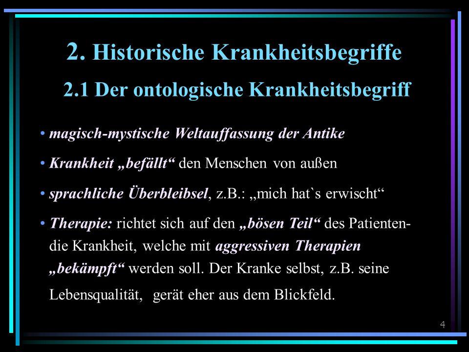 2. Historische Krankheitsbegriffe