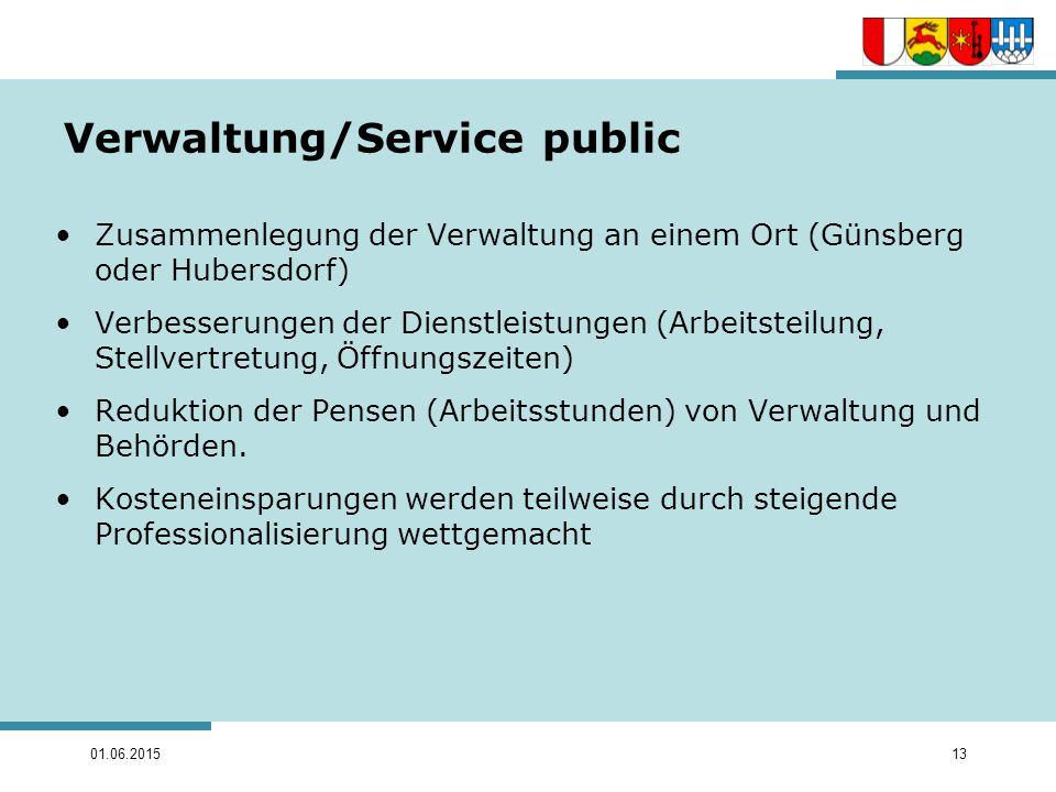 Verwaltung/Service public