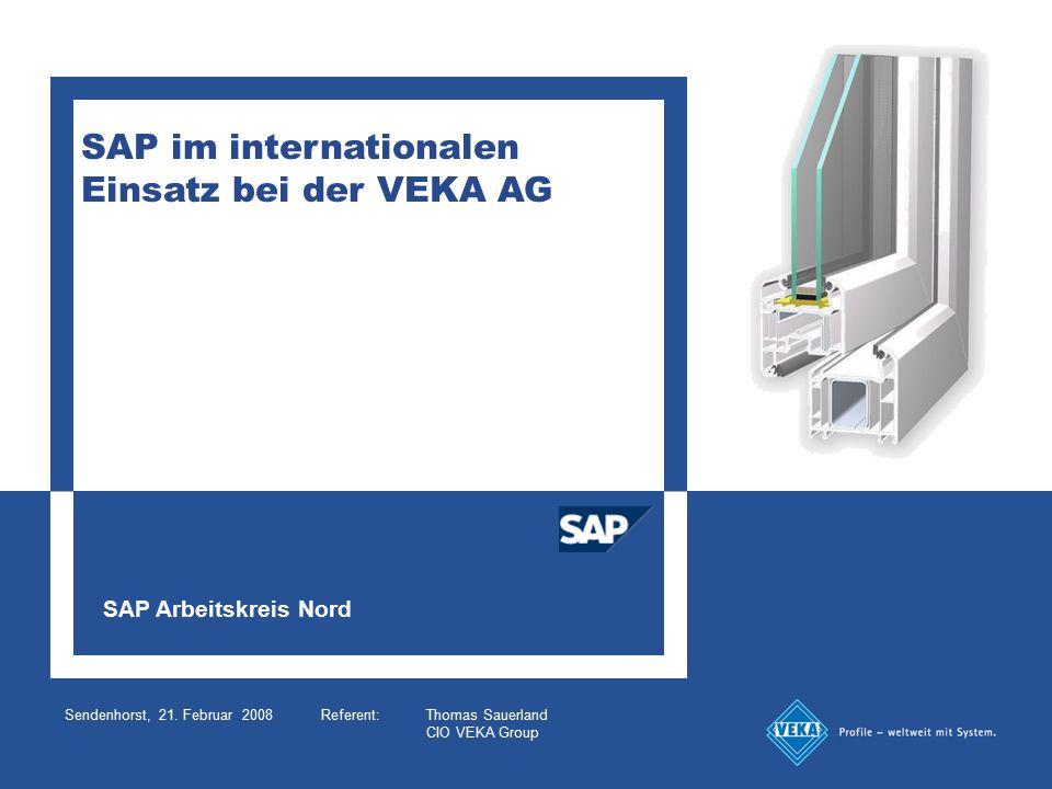 SAP im internationalen Einsatz bei der VEKA AG