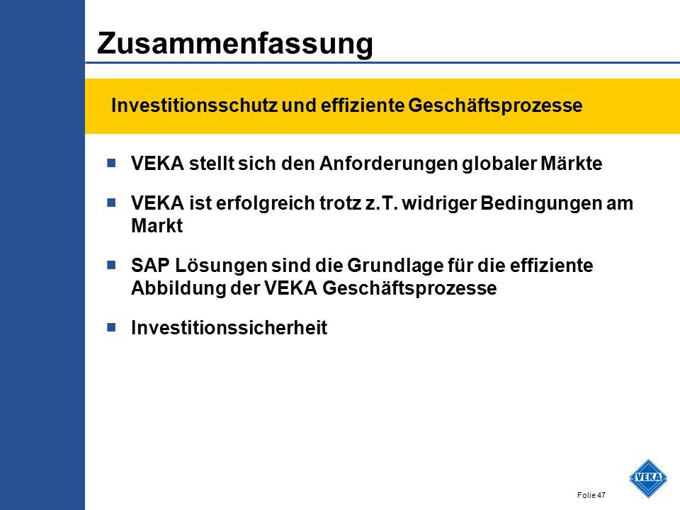 Zusammenfassung Investitionsschutz und effiziente Geschäftsprozesse