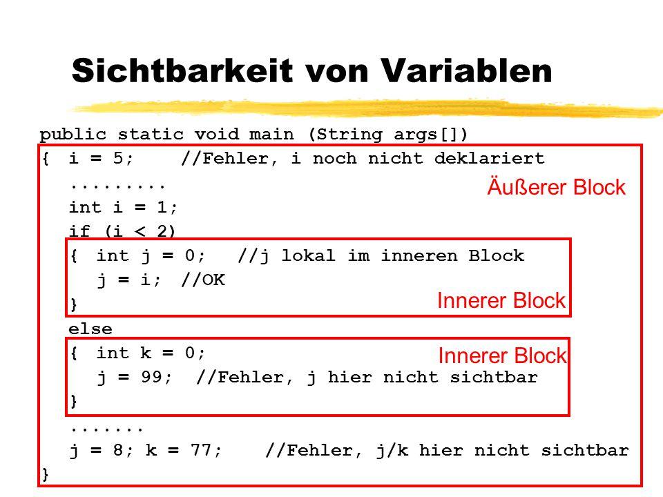 Sichtbarkeit von Variablen