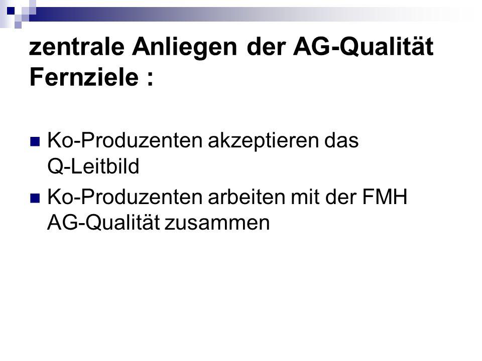 zentrale Anliegen der AG-Qualität Fernziele :