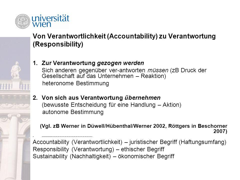 Von Verantwortlichkeit (Accountability) zu Verantwortung (Responsibility)