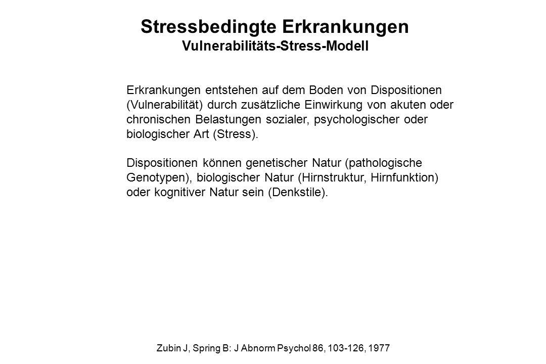 Stressbedingte Erkrankungen Vulnerabilitäts-Stress-Modell