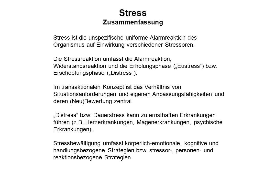 Stress Zusammenfassung