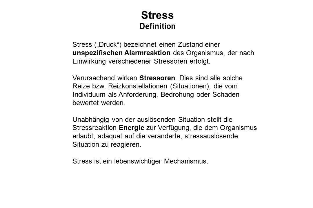 Stress Definition.