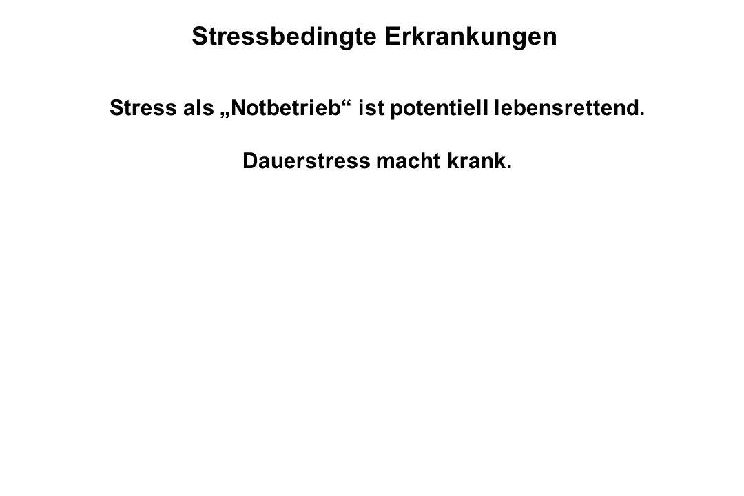 Stressbedingte Erkrankungen