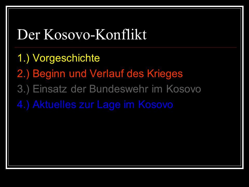 Der Kosovo-Konflikt 1.) Vorgeschichte