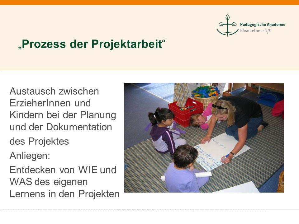 """""""Prozess der Projektarbeit"""