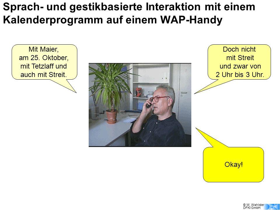 Sprach- und gestikbasierte Interaktion mit einem Kalenderprogramm auf einem WAP-Handy