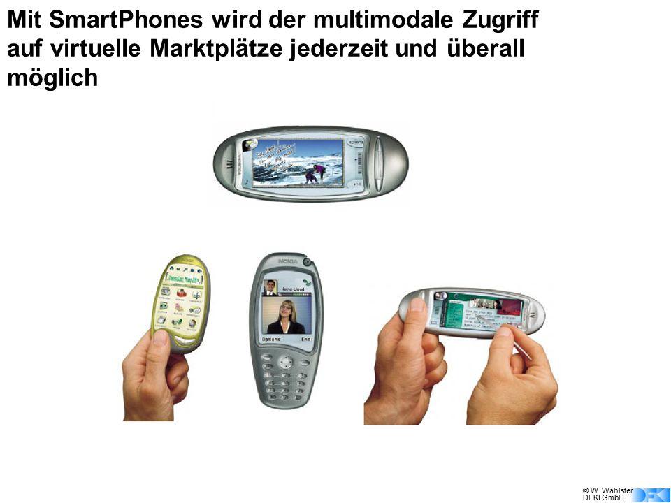 Mit SmartPhones wird der multimodale Zugriff auf virtuelle Marktplätze jederzeit und überall möglich