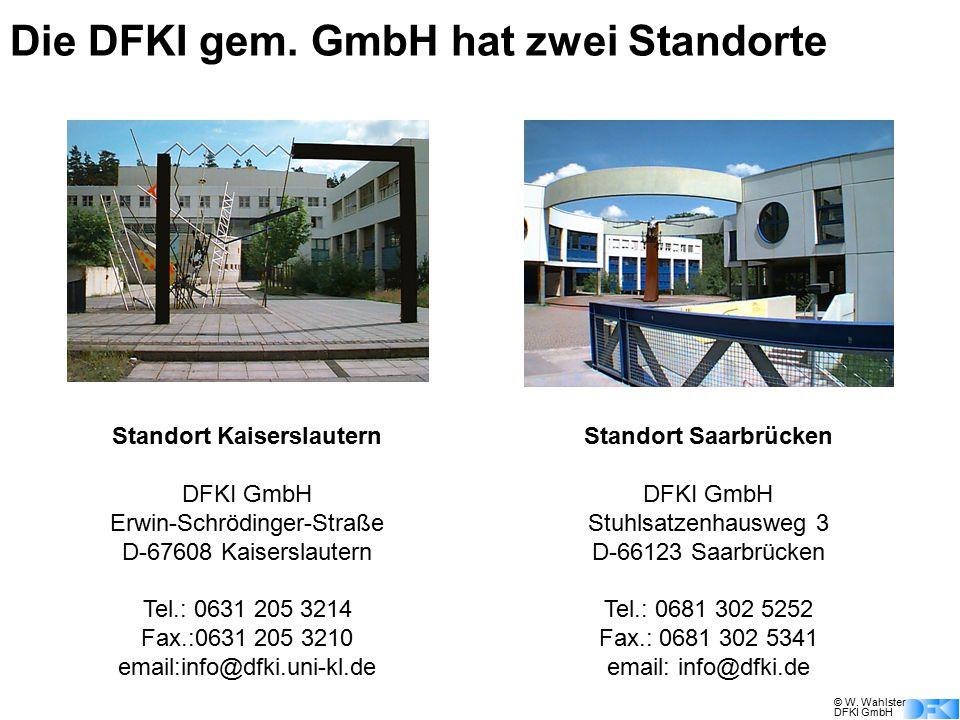 Die DFKI gem. GmbH hat zwei Standorte