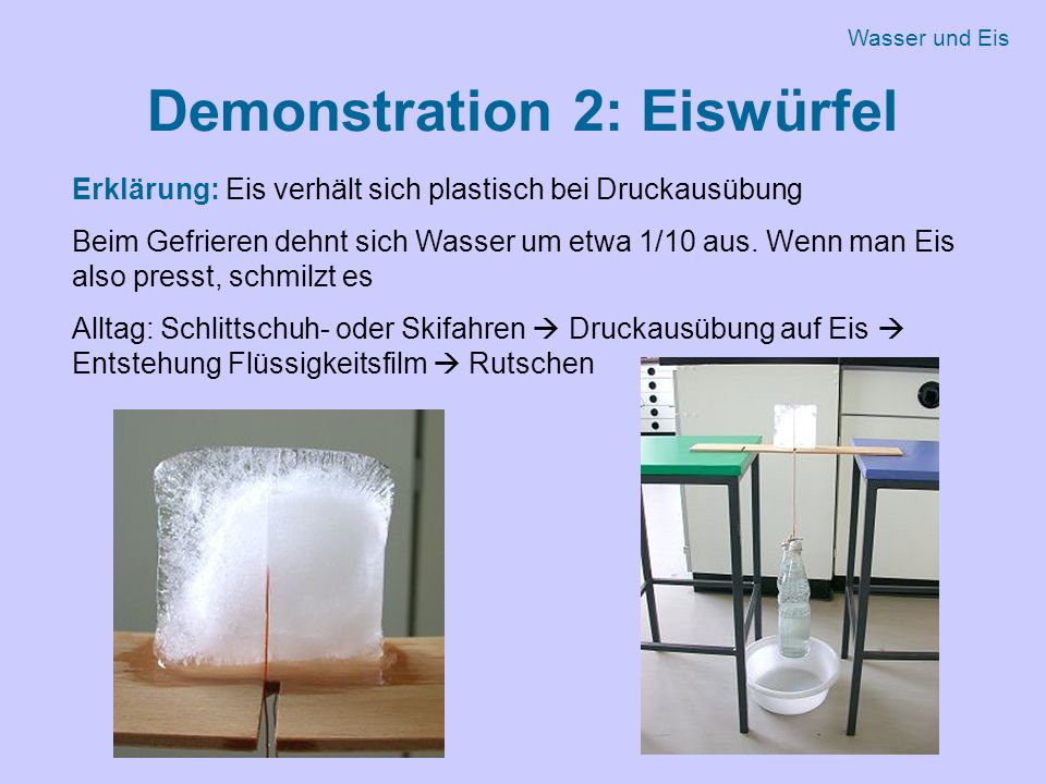 Demonstration 2: Eiswürfel