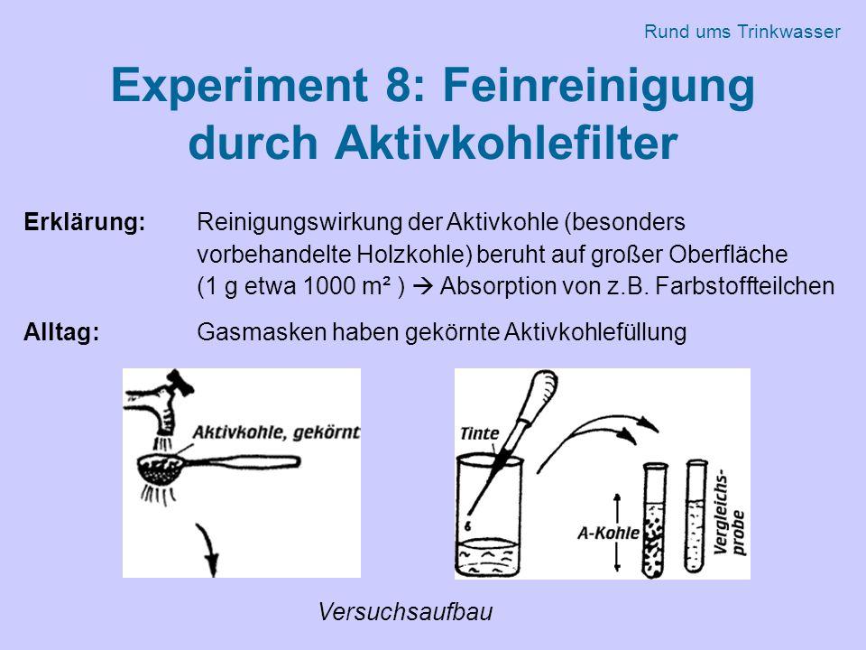 Experiment 8: Feinreinigung durch Aktivkohlefilter