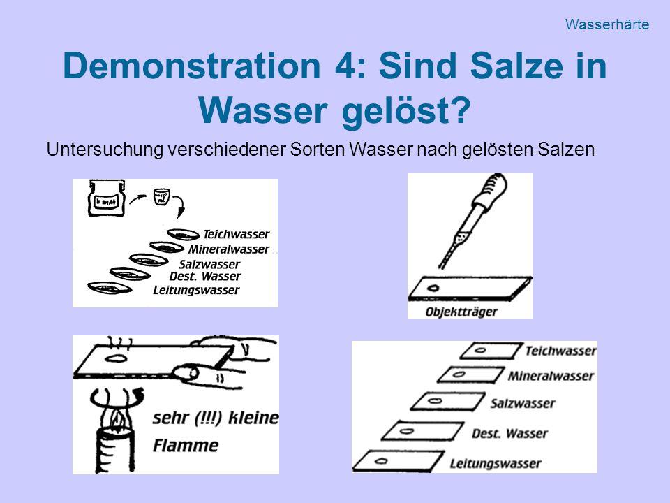 Demonstration 4: Sind Salze in Wasser gelöst