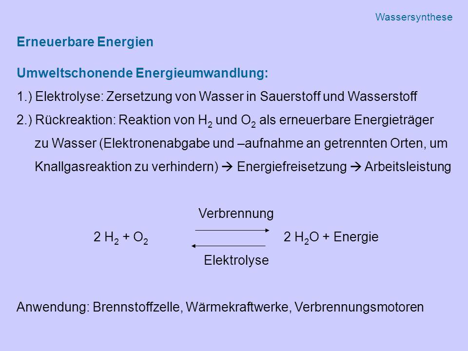 Umweltschonende Energieumwandlung: