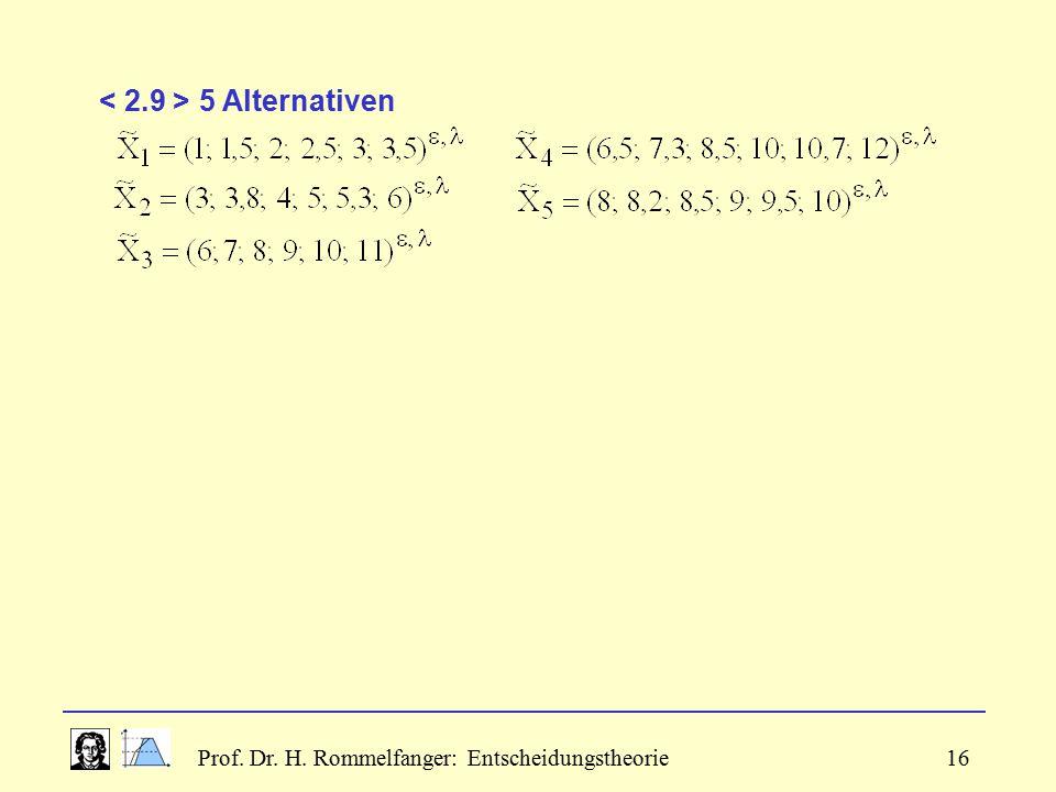 < 2.9 > 5 Alternativen