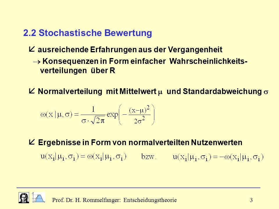 2.2 Stochastische Bewertung
