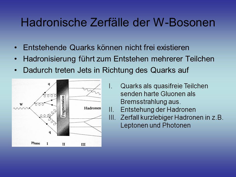 Hadronische Zerfälle der W-Bosonen