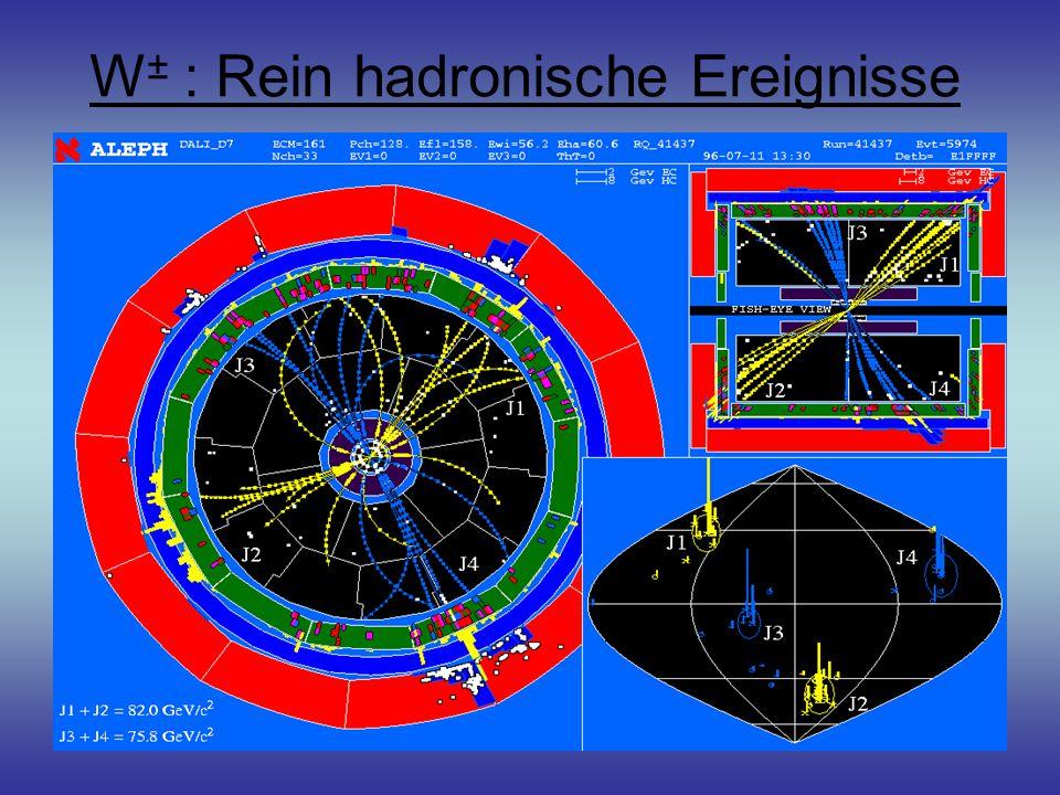 W± : Rein hadronische Ereignisse