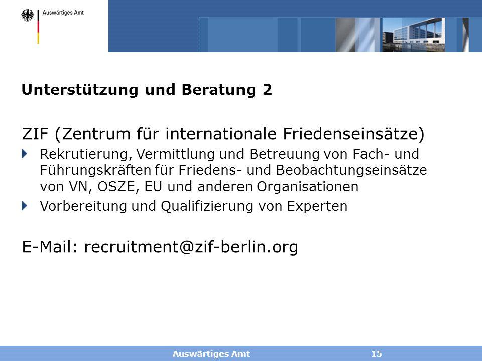 ZIF (Zentrum für internationale Friedenseinsätze)