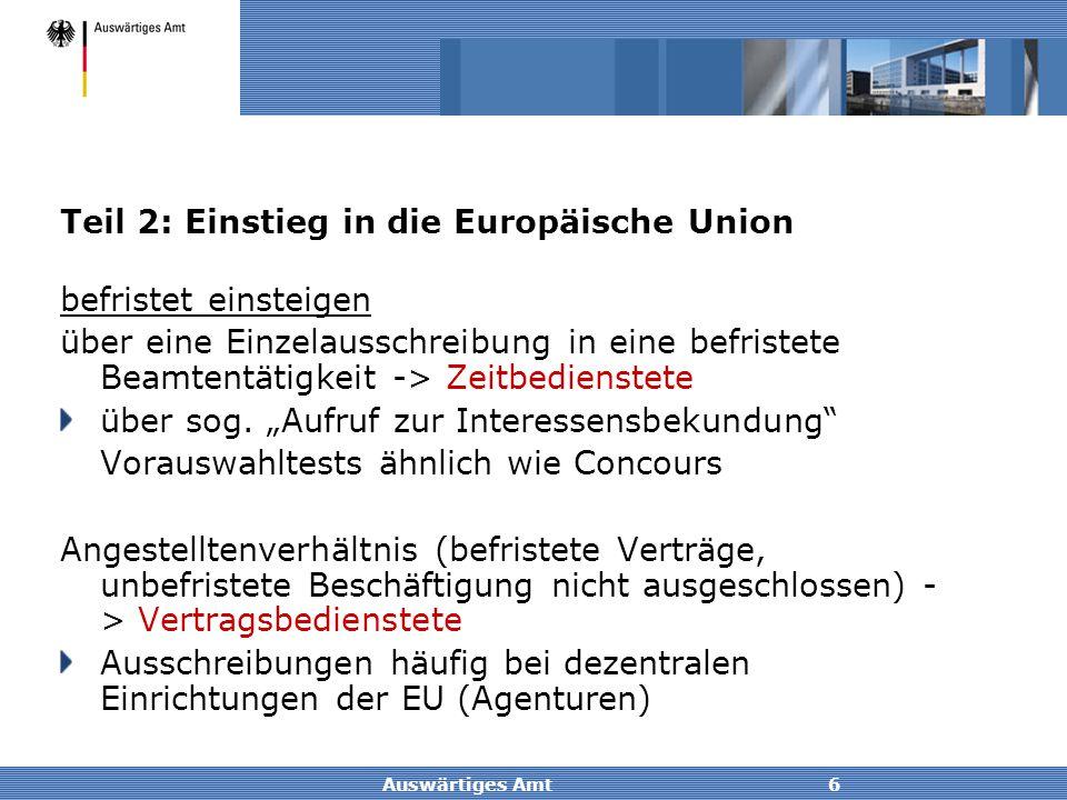 Teil 2: Einstieg in die Europäische Union