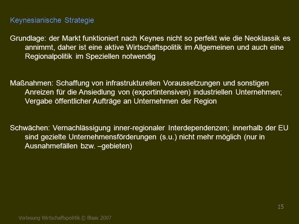Keynesianische Strategie