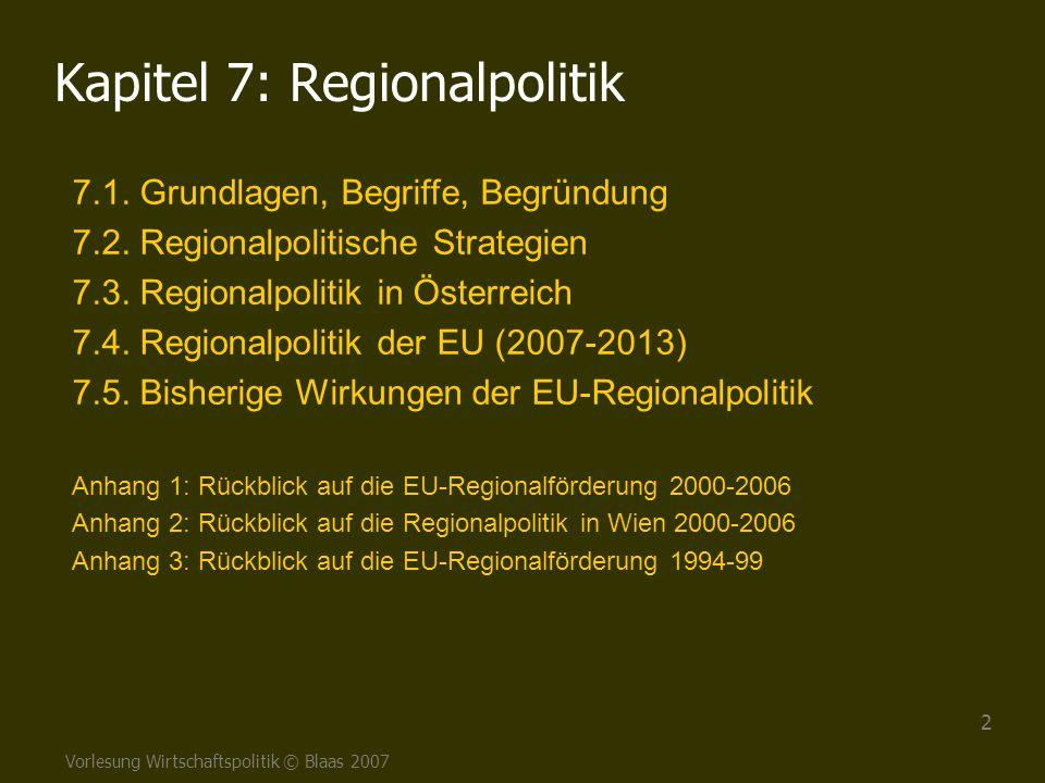 Kapitel 7: Regionalpolitik
