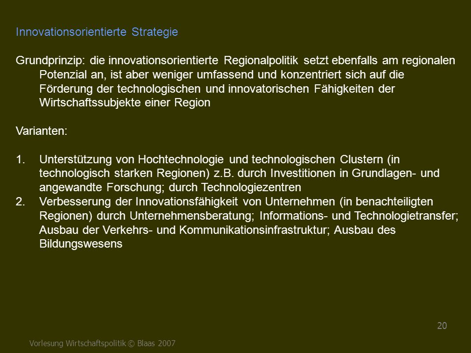 Innovationsorientierte Strategie
