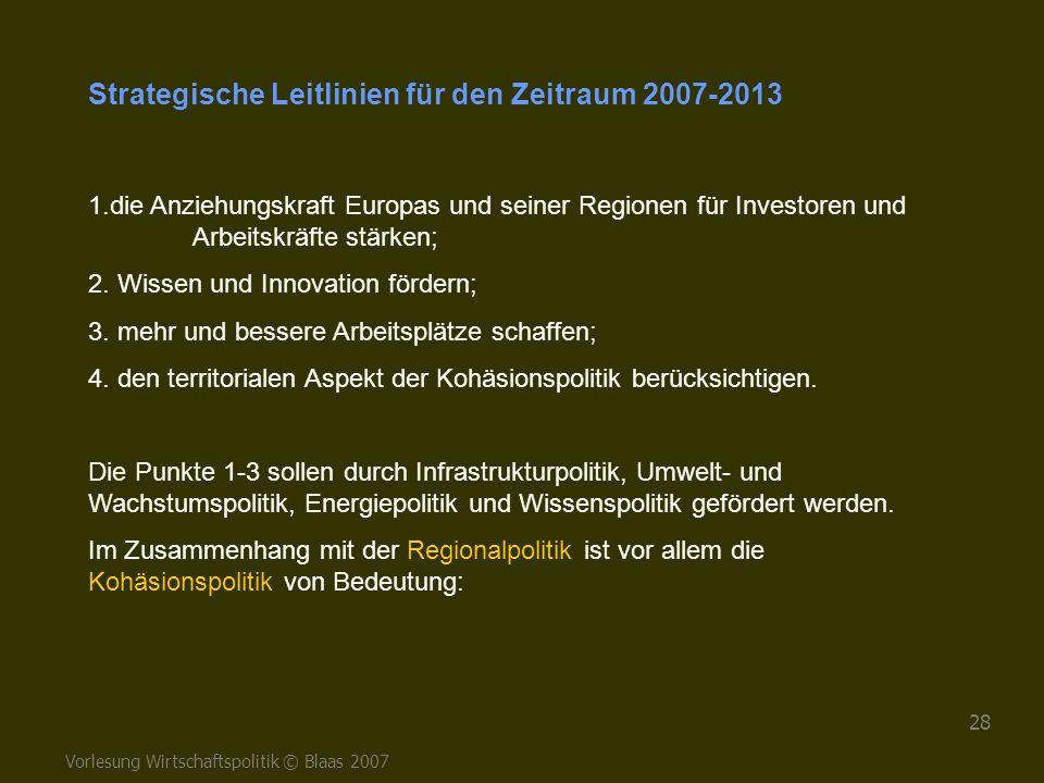 Strategische Leitlinien für den Zeitraum 2007-2013