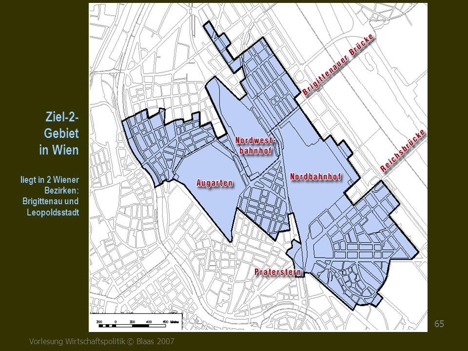 Ziel-2- Gebiet in Wien liegt in 2 Wiener Bezirken: Brigittenau und Leopoldsstadt