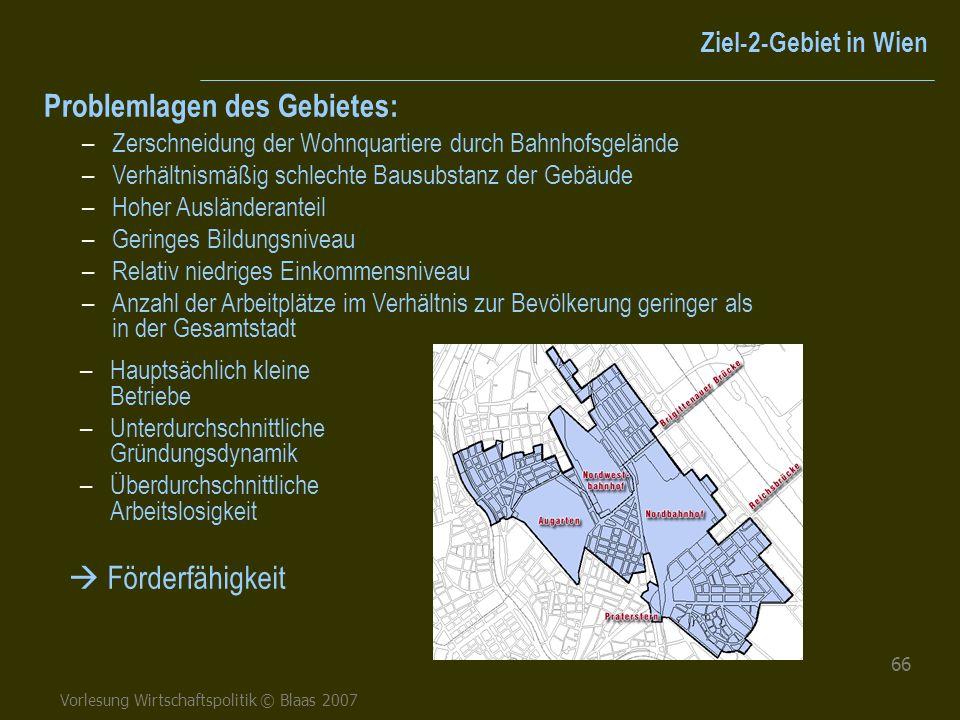 Problemlagen des Gebietes: