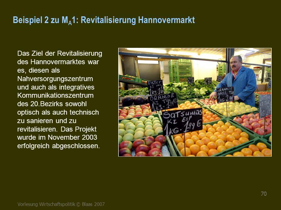 Beispiel 2 zu MA1: Revitalisierung Hannovermarkt