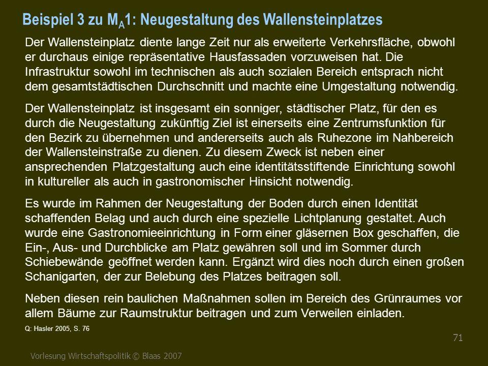 Beispiel 3 zu MA1: Neugestaltung des Wallensteinplatzes