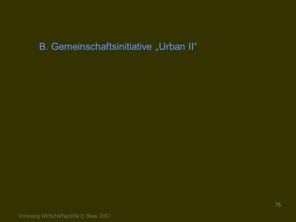 "B. Gemeinschaftsinitiative ""Urban II"