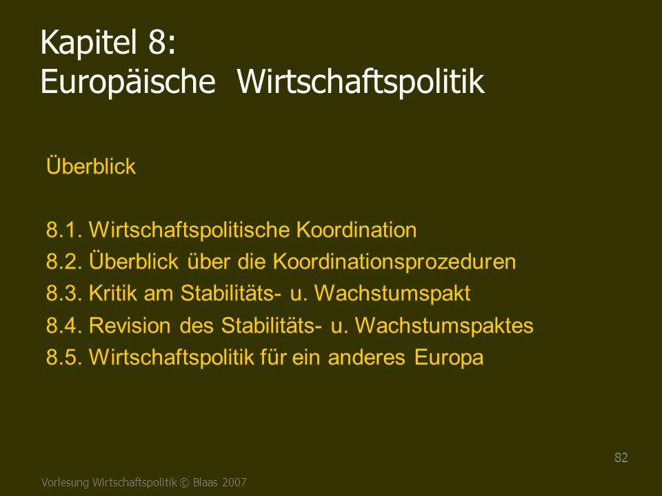 Kapitel 8: Europäische Wirtschaftspolitik