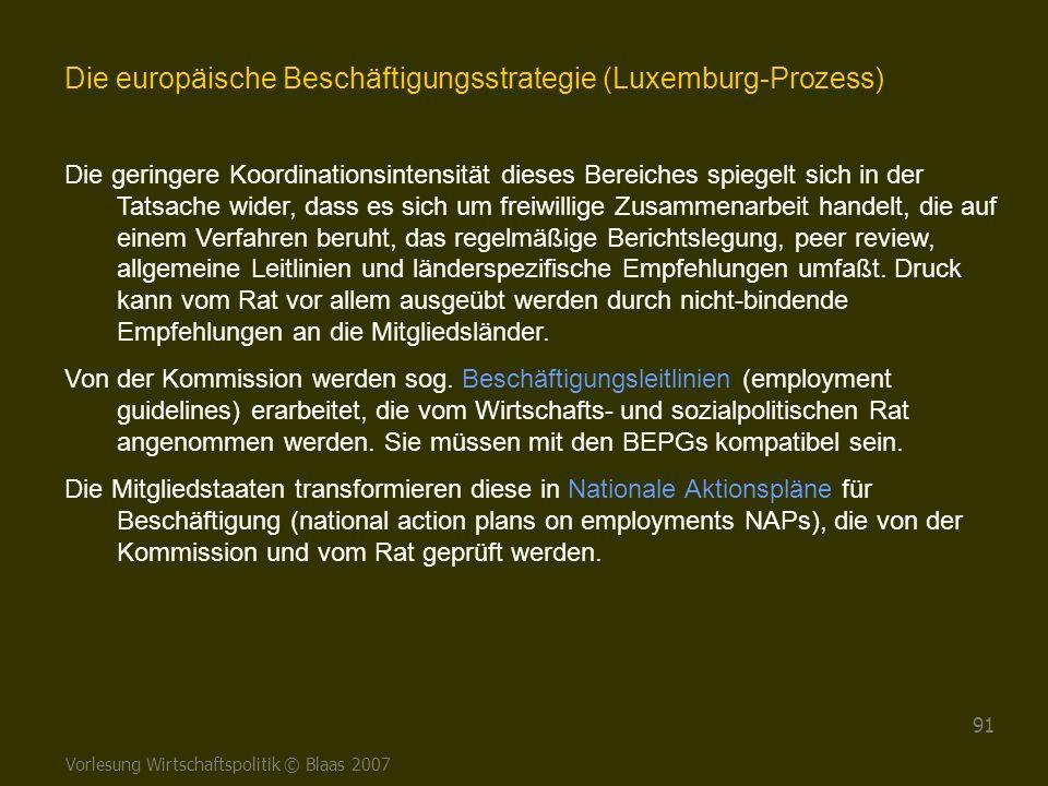 Die europäische Beschäftigungsstrategie (Luxemburg-Prozess)