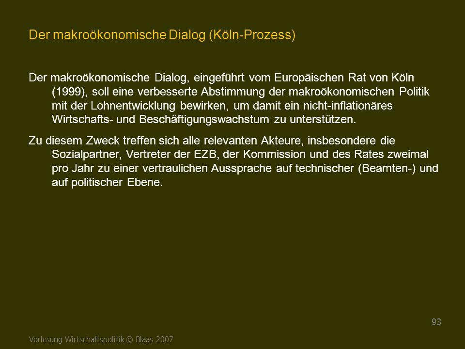 Der makroökonomische Dialog (Köln-Prozess)