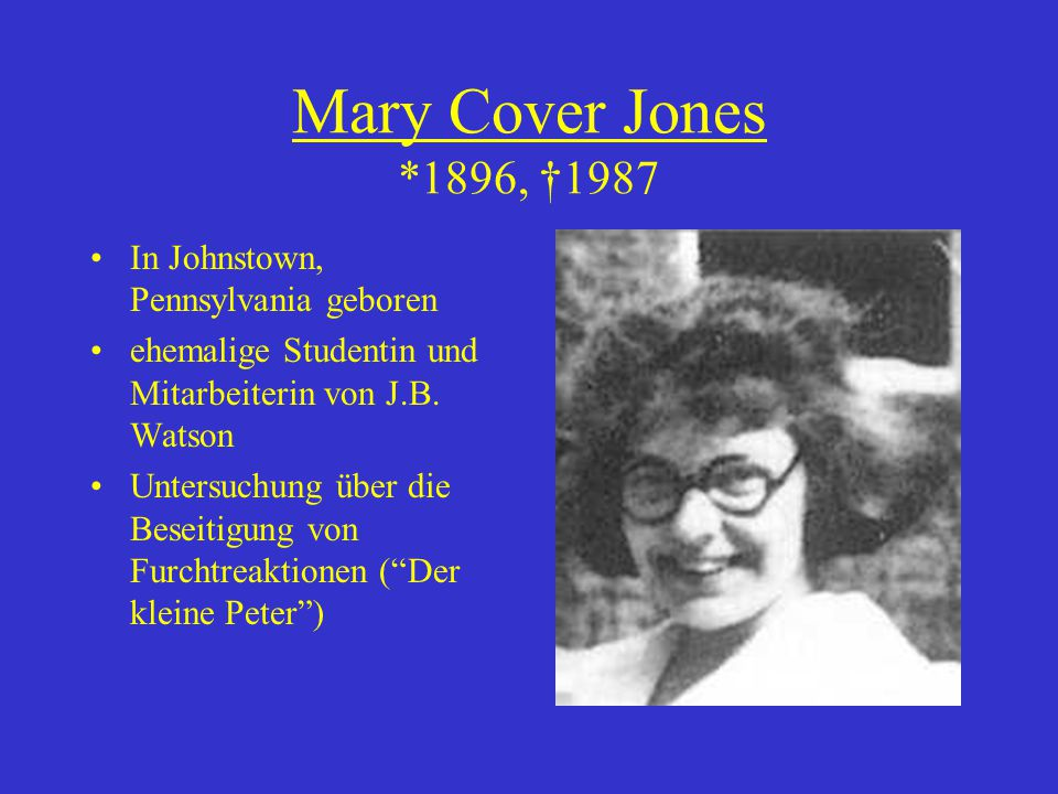 Mary Cover Jones *1896, †1987 In Johnstown, Pennsylvania geboren