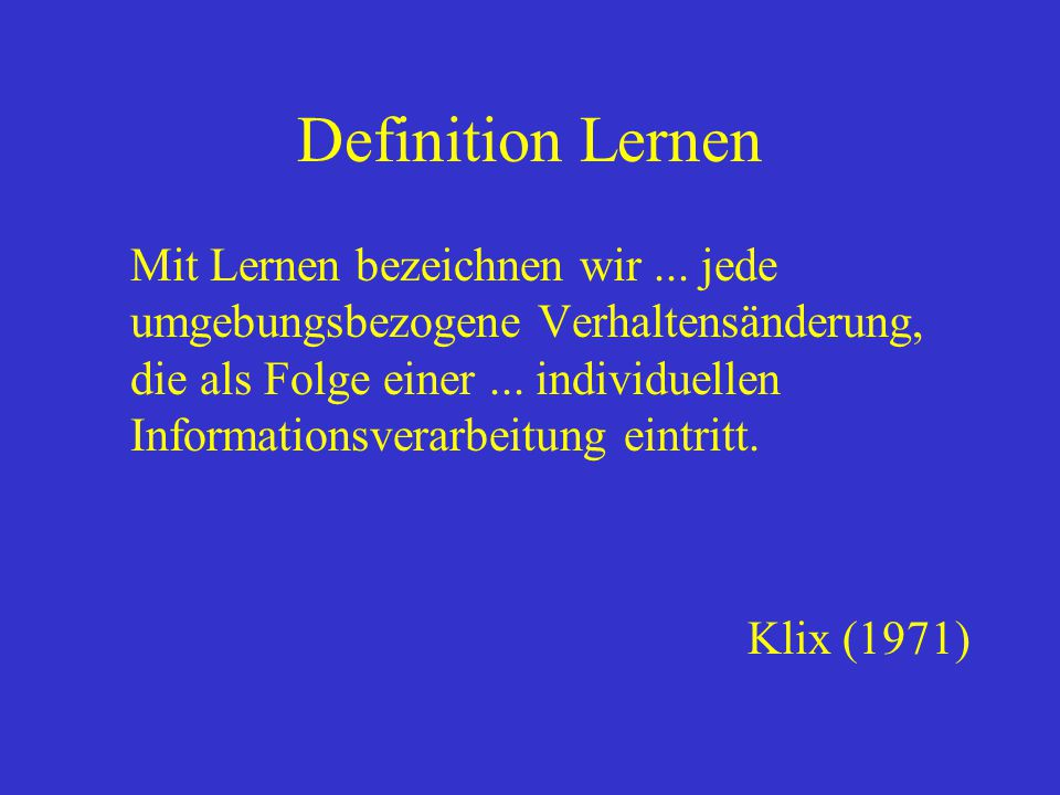 Definition Lernen