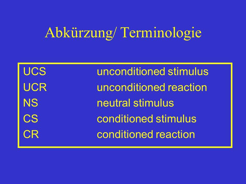 Abkürzung/ Terminologie