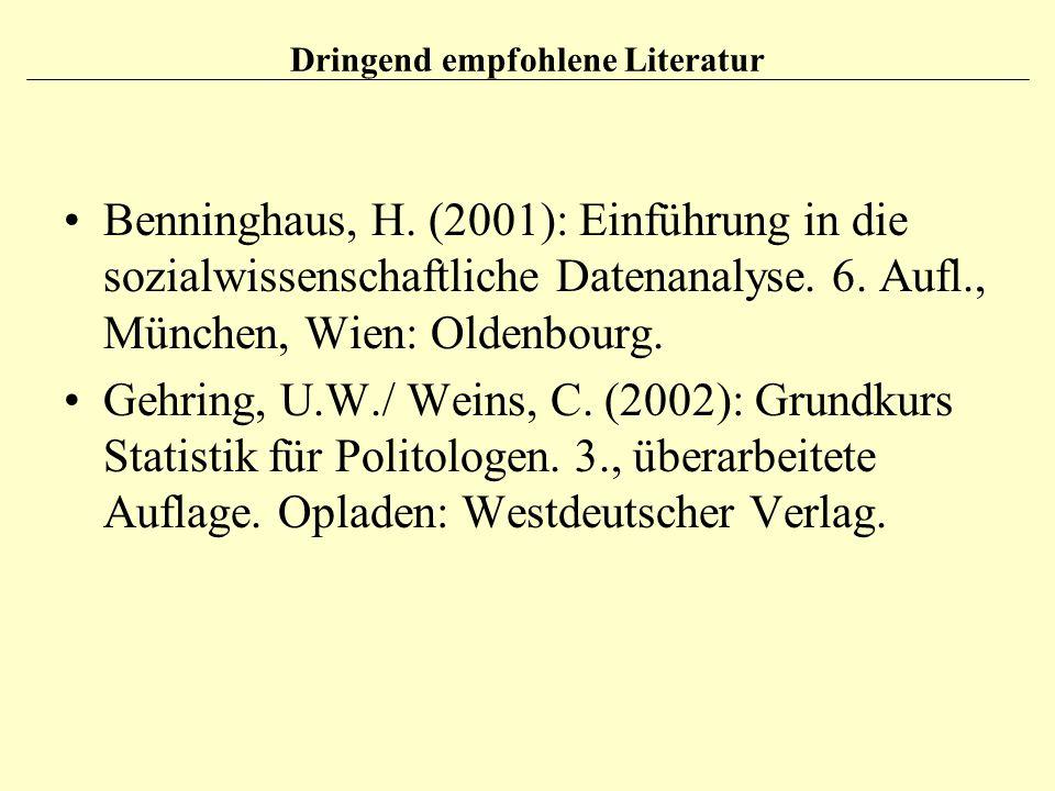 Dringend empfohlene Literatur