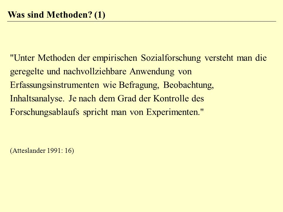 Was sind Methoden (1)
