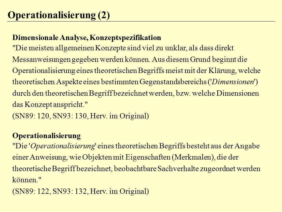 Operationalisierung (2)