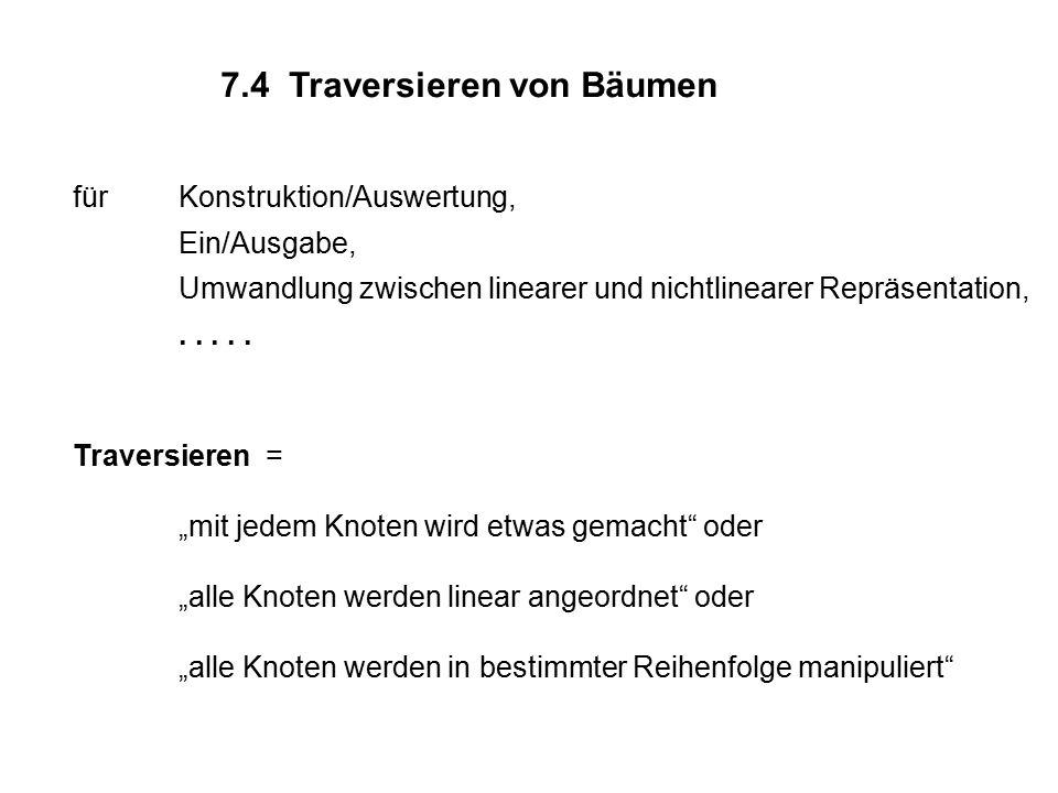 7.4 Traversieren von Bäumen