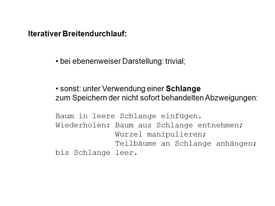 Iterativer Breitendurchlauf: