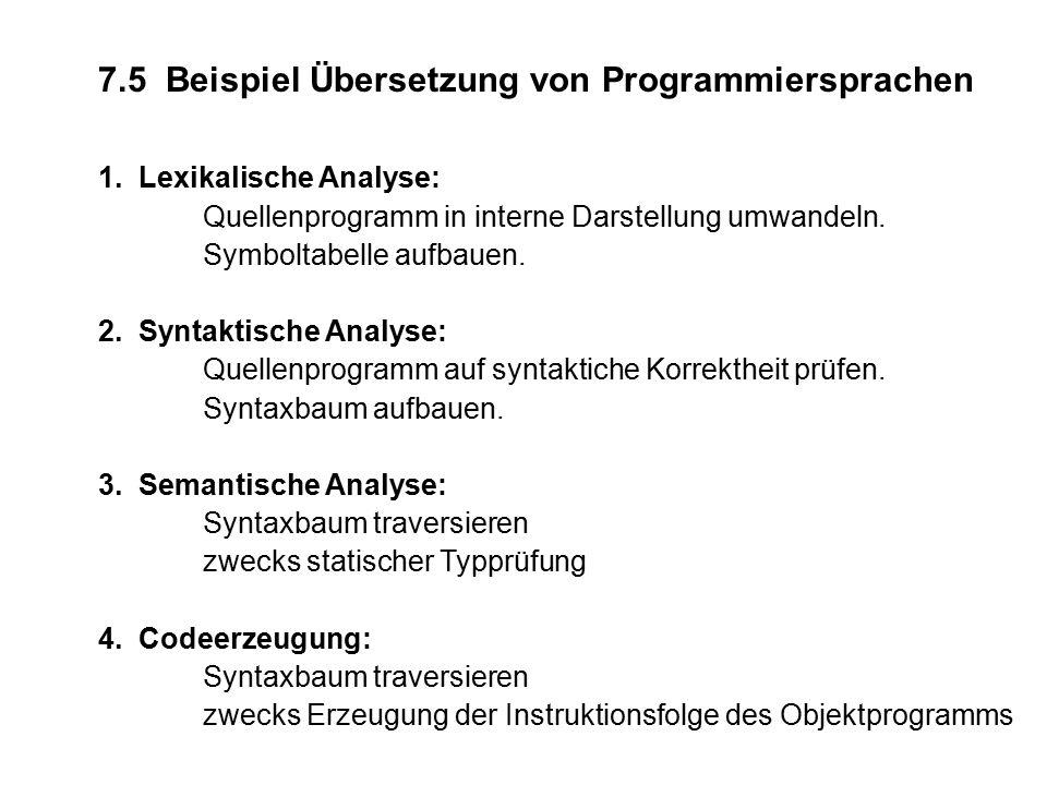 7.5 Beispiel Übersetzung von Programmiersprachen