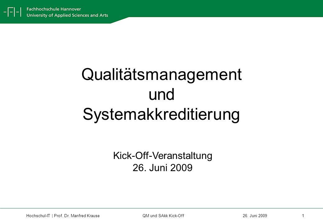 Qualitätsmanagement und Systemakkreditierung