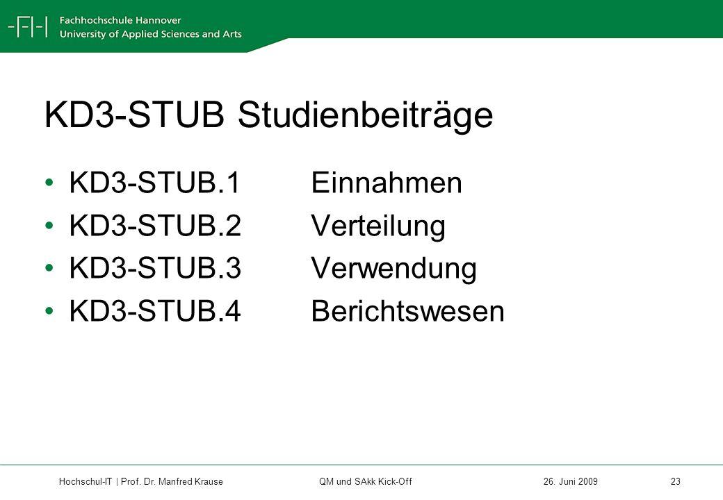 KD3-STUB Studienbeiträge