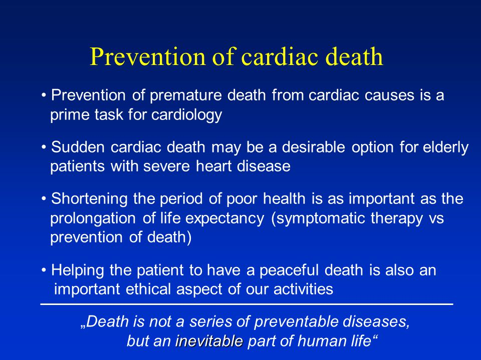 Prevention of cardiac death